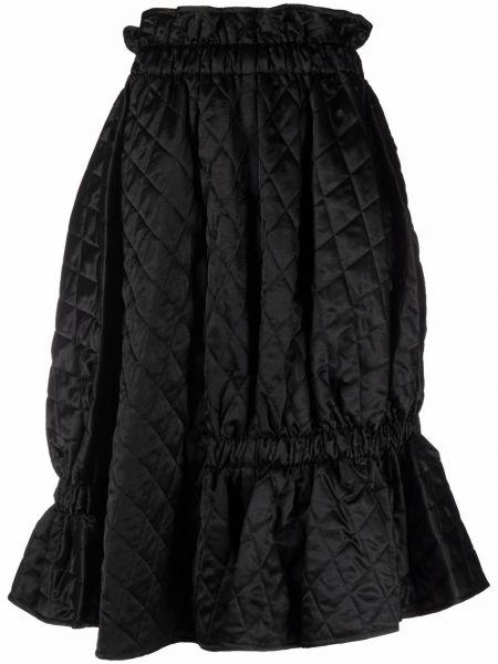 С завышенной талией расклешенная черная юбка миди Comme Des Garçons Noir Kei Ninomiya