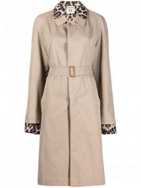 Бежевое пальто с воротником с подкладкой Semicouture
