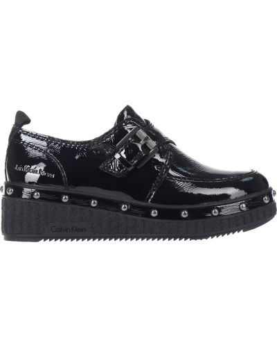 Кожаные туфли на каблуке осенние Calvin Klein Jeans