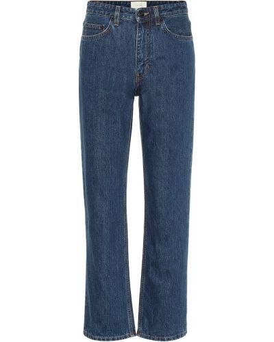 Прямые ватные хлопковые синие прямые джинсы The Row