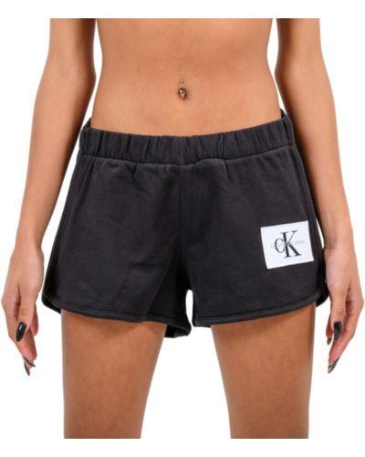 Krótkie szorty z wysokim stanem Calvin Klein