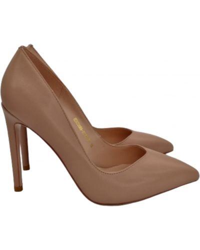 Туфли на каблуке - бежевые Anemone