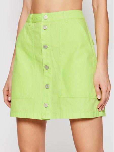 Zielona spódnica jeansowa Tommy Jeans