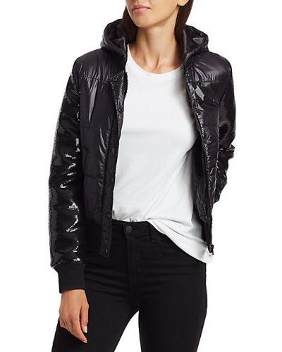 Черная длинная куртка с капюшоном с длинными рукавами Generation Love