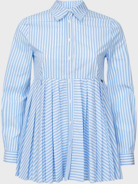Хлопковая блузка - голубая Sfizio