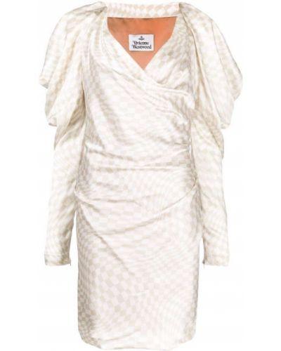 Шелковое платье макси - белое Vivienne Westwood