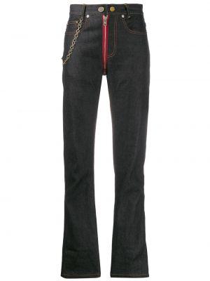 Темно-синие укороченные джинсы в стиле бохо Zilver