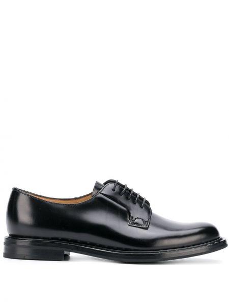 Кожаные туфли черные на шнуровке Church's