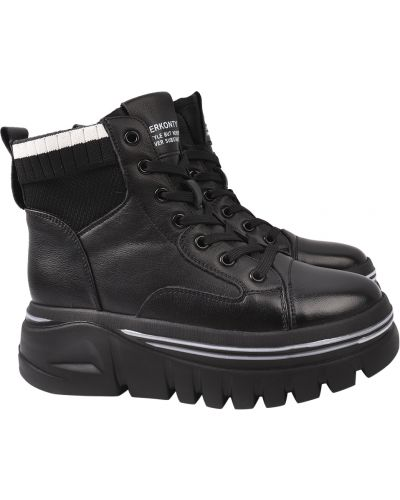 Кожаные ботинки - черные Berkonty