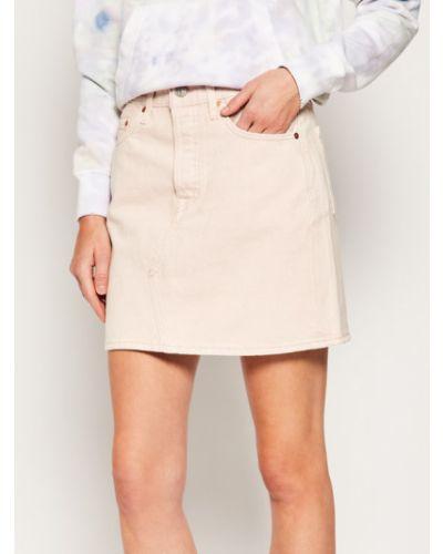 Spódnica jeansowa - różowa Levi's