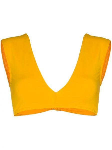 Желтые бикини с драпировкой с вырезом Beth Richards