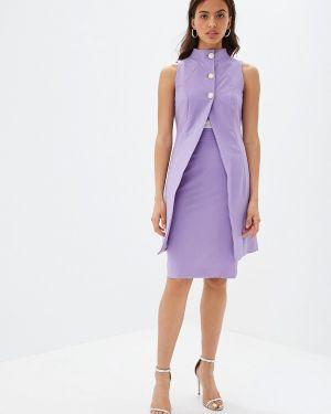 Юбочный костюм фиолетовый Bezko
