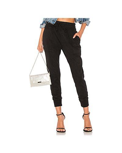Спортивные брюки с накладными карманами в рубчик James Perse
