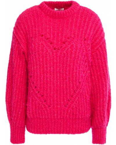 Открытый розовый шерстяной свитер Sandro
