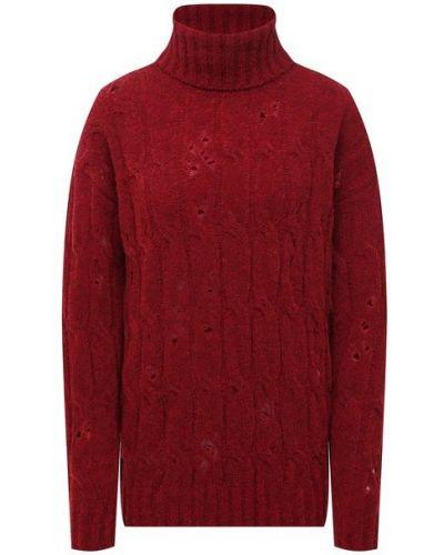 Бордовая трикотажная свитер Uma Wang
