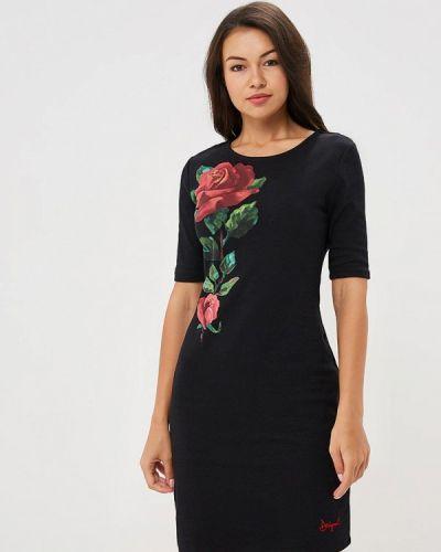 Черное платье осеннее Desigual
