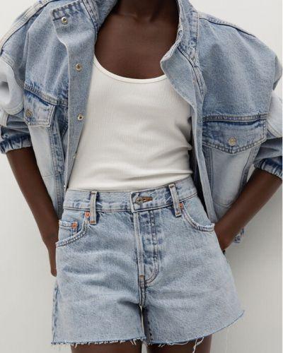 Niebieskie szorty jeansowe Mango