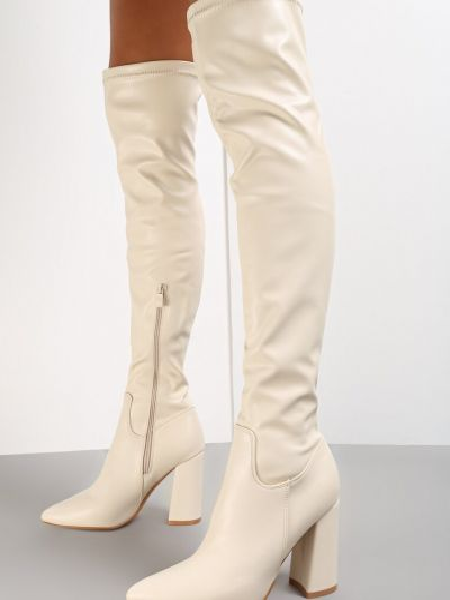 Kozaki za kolano - beżowe Renee