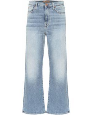 Укороченные джинсы в полоску свободные 7 For All Mankind