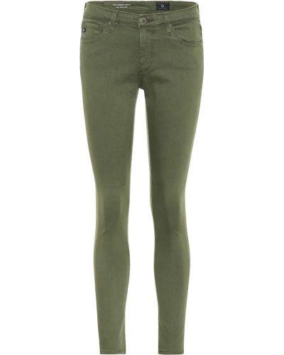 Oliwa zawężony bawełna bawełna obcisłe dżinsy Ag Jeans