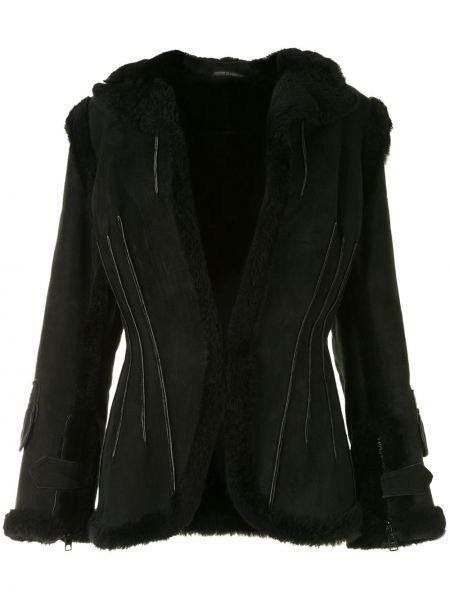 Черная куртка с подкладкой с вырезом узкого кроя Yohji Yamamoto Pre-owned