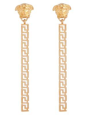 Złote kolczyki sztyfty z ćwiekami Versace