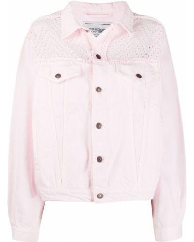 Хлопковая джинсовая куртка - розовая Forte Dei Marmi Couture