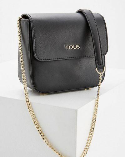 Кожаная сумка - черная Tous