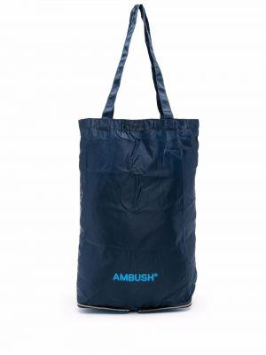 Niebieska torebka z nylonu Ambush