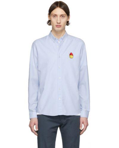 Biały bawełna bawełna z rękawami koszula oxford Ami Alexandre Mattiussi