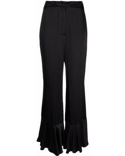 Черные брюки с защипами Lautre Chose
