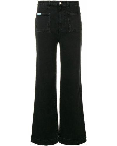 Прямые джинсы с низкой посадкой черные Alexa Chung