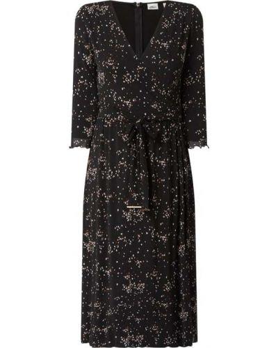Sukienka midi z paskiem - czarna S.oliver Black Label