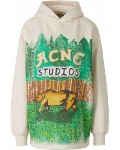 Beżowa bluza z printem Acne Studios