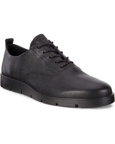 Кожаные полуботинки черные на шнурках Ecco