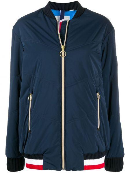 С рукавами ватная синяя длинная куртка Rossignol