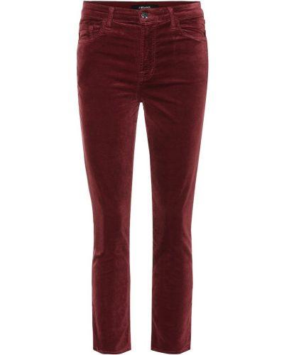Укороченные джинсы с декоративной отделкой в стиле бохо J Brand