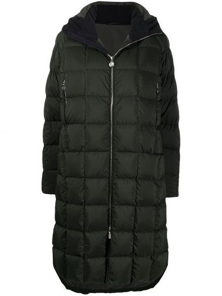 Классическое стеганое зеленое стеганое пальто на молнии Ienki Ienki