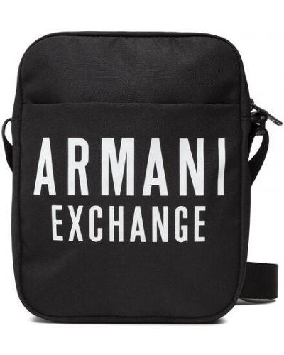 Czarna saszetka Armani Exchange
