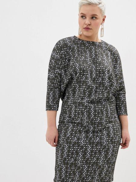 Серое повседневное платье Louitex