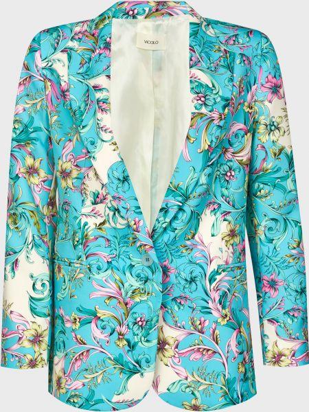 Пиджак на пуговицах - бирюзовый Vicolo