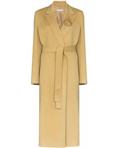 Шерстяное пальто с запахом с поясом Rejina Pyo