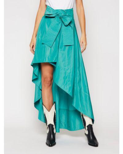 Niebieska spódnica maxi Pinko