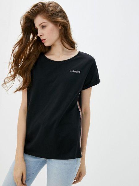 Футбольная черная футболка Q/s Designed By