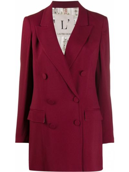 Красный удлиненный пиджак двубортный на пуговицах L'autre Chose