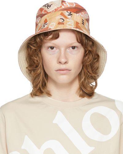 Beżowa czapka skórzana Chloe