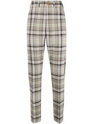 Бежевые прямые брюки Vivienne Westwood