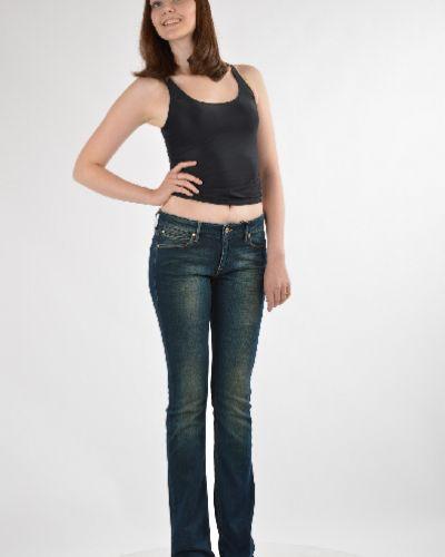 Расклешенные джинсы с низкой посадкой с эффектом потертости Guess By Marciano