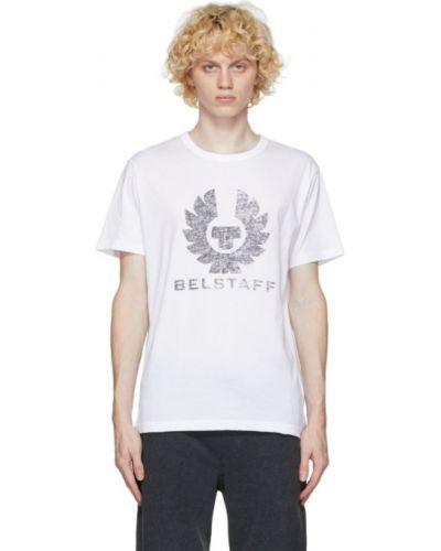 Bawełna biały koszula z krótkim rękawem z kołnierzem krótkie rękawy Belstaff