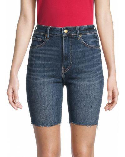 Хлопковые синие джинсовые шорты с карманами True Religion